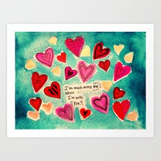 Me and You - Valentine Art Print