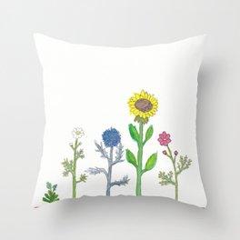 Bloemenrand (flower border) Throw Pillow