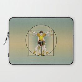 Vitruvian Cyclist Laptop Sleeve