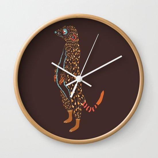 Abstract Meerkat Wall Clock