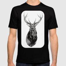 Bull Elk Encounter Mens Fitted Tee Black MEDIUM