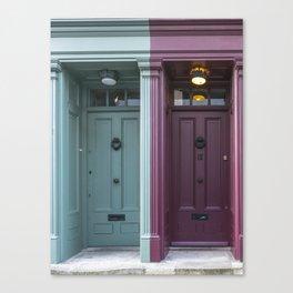 The twins London doors Canvas Print
