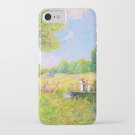 Julian Alden Weir - The Fishing Party - Digital Remastered Edition iPhone Case