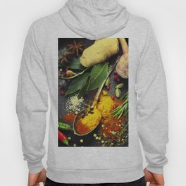 Spices and herbs. Food and cuisine ingredients. Hoody