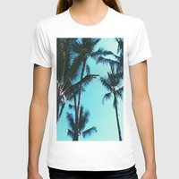 palm trees T-shirts featuring Palm Trees by Alexandra Str