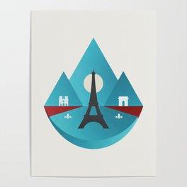 Paris - City of Light Poster