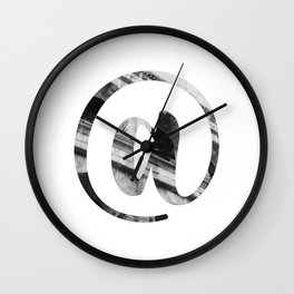 """""""Colosseum Collection"""" - Minimal At Sign Print Wall Clock"""