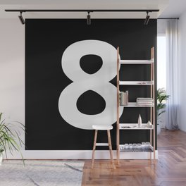 Number 8 (White & Black) Wall Mural