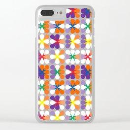 Rainflower Clear iPhone Case