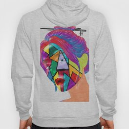 Portrait of Face Mask Hoody