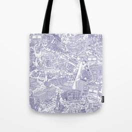 Illustrated map of Berlin-Mitte. Ink pen design Tote Bag