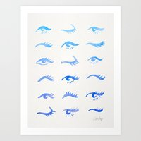 Mascara Envy – Blue Ombré Palette Art Print