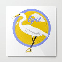 Egret Metal Print