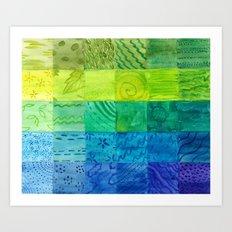 Bali Quilt Art Print