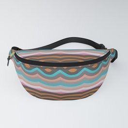 Art Deco Sweet Waves Fanny Pack