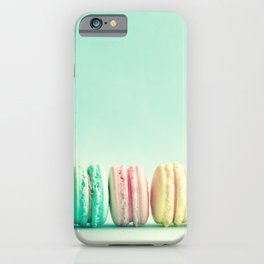Macarons, macaroons row, pop art iPhone Case