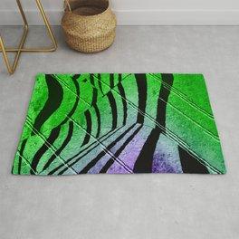 Abstract Neon Zebra Rug