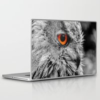 andreas preis Laptop & iPad Skins featuring ORANGE OF MY EYE by Catspaws