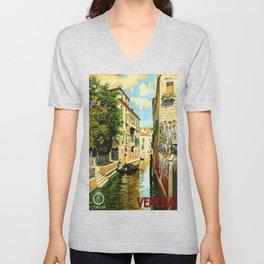 Venezia - Venice Italy Vintage Travel Unisex V-Neck