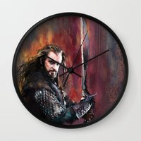thorin Wall Clocks featuring Thorin by Wisesnail