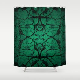 Green cracked wall Shower Curtain