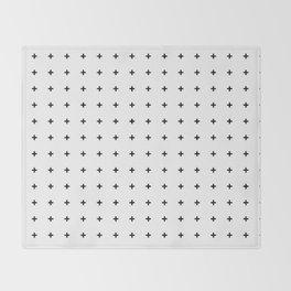 Black Plus on White /// www.pencilmeinstationery.com Throw Blanket