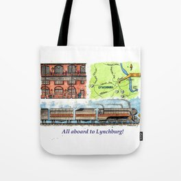 All Aboard to Lynchburg! Tote Bag