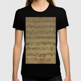 Vintage Music Sheet (Monochrome) T-shirt