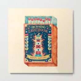 THE BURNING LIGHTHOUSE Metal Print