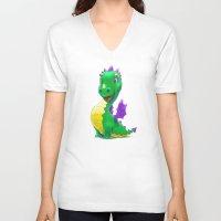 smaug V-neck T-shirts featuring The Childhood of Smaug ;) by pakowacz