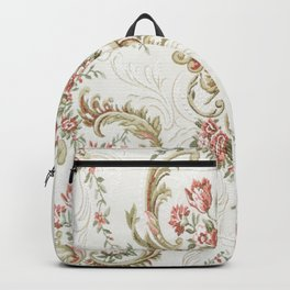 Antique fabrique wall paper Backpack
