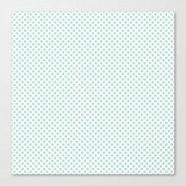 Honeydew Polka Dots Canvas Print