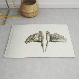 Northern Harrier Pair - with Border Rug