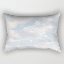 White Clouds | Classic Blue Rectangular Pillow