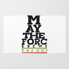 May the Force be with You - Star Wars Eye chart style Movie Poster Rug