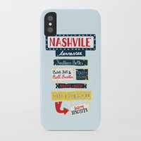 nashville iPhone & iPod Cases featuring Nashville signs by emma miller