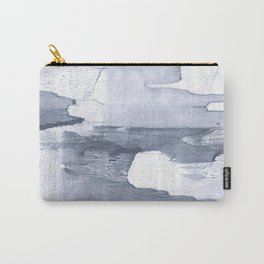 Dark gray nebulous watercolor painting Carry-All Pouch