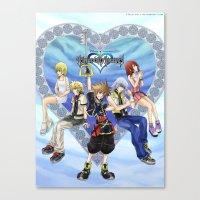 kingdom hearts Canvas Prints featuring Kingdom Hearts by clayscence