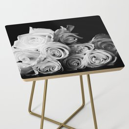 White Roses Side Table