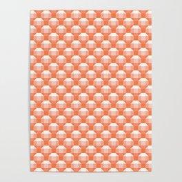 3D Optical Illusion: Orange Rhombicuboctahedron Poster