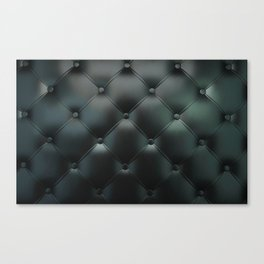 Black Tuck and Roll Texture Canvas Print