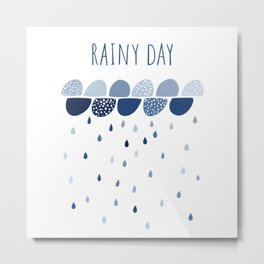 Rainy Day art print Metal Print