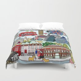 The Queen's London Day Out Duvet Cover
