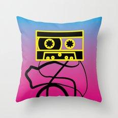 80's problems: Cassette Tape Throw Pillow