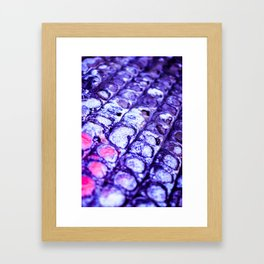 Abstract Purple Bumps Framed Art Print