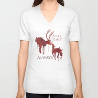 snape V-neck T-shirts featuring Always by Rose's Creation