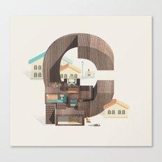 Resort Type - Letter C Canvas Print
