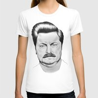 swanson T-shirts featuring Ron Swanson by 13 Styx