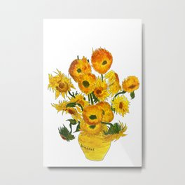 sunflower Vincent van gogh Metal Print
