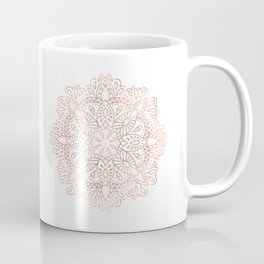 Mandala Rose Gold Pink Shimmer by Nature Magick Coffee Mug